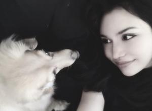 愛犬と水沢アリー